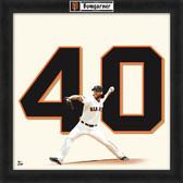 San Francisco Giants Madison Bumgarner 20x20 Uniframe Jersey Photo
