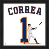 Houston Astros Carlos Correa 20x20 Uniframe Jersey Photo