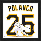 Pittsburgh Pirates Gregory Polanco 20x20 Uniframe Home Jersey Photo