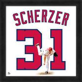 Washington Nationals Max Scherzer 20x20 Uniframe Jersey Photo