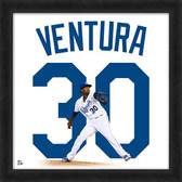 Kansas City Royals Yordano Ventura 20x20 Uniframe Home Jersey Photo