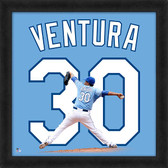 Kansas City Royals Yordano Ventura 20x20 Uniframe Jersey Photo