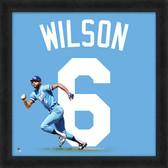Kansas City Royals Willie Wilson 20x20 Uniframe Jersey Photo