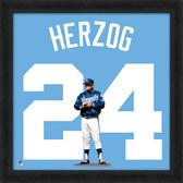 Kansas City Royals Whitey Herzog 20x20 Uniframe Jersey Photo