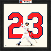 Cleveland Indians Michael Brantley 20x20 Uniframe Jersey Photo