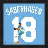 Kansas City Royals Bret Saberhagen 20x20 Uniframe Jersey Photo