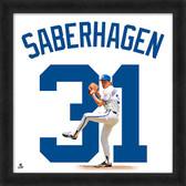 Kansas City Royals Bret Saberhagen 20x20 Uniframe Home Jersey Photo