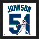Seattle Mariners Randy Johnson 20x20 Uniframe Jersey Photo