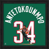 Milwaukee Bucks Giannis Antetokounmpo 20x20 Uniframe Jersey Photo