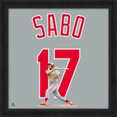 Cincinnati Reds Chris Sabo 20x20 Uniframe Jersey Photo