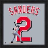 Cincinnati Reds Deion Sanders 20x20 Uniframe Jersey Photo