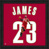 Cleveland Cavaliers Lebron James Red 20x20 Uniframe Jersey Photo