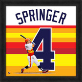 Houston Astros George Springer 20x20 Uniframe Jersey Photo