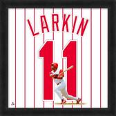 Cincinnati Reds Barry Larkin 20x20 Uniframe Jersey Photo