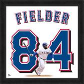 Texas Rangers Prince Fielder 20x20 Uniframe Home Jersey Photo