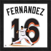 Miami Marlins Jose Fernandez 20x20 Uniframe Jersey Photo