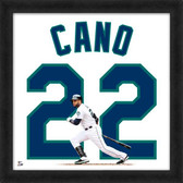 Seattle Mariners Robinson Cano Home 20x20 Uniframe Jersey Photo