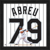 Chicago White Sox Jose Abreu Home 20x20 Uniframe Jersey Photo