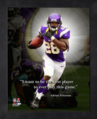 Minnesota Vikings Adrian Peterson 11x14 Pro Quote