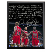 Chicago Bulls Dennis Rodman Facsimile Playing With Michael Jordan Metallic 8x10 Story Plaque
