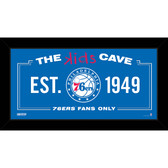 Philadelphia 76ers 6x12 Kids Cave Sign