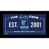 Memphis Grizzlies 6x12 Kids Cave Sign