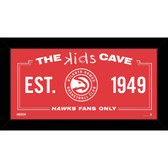 Atlanta Hawks 6x12 Kids Cave Sign
