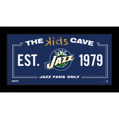 Utah Jazz 6x12 Kids Cave Sign