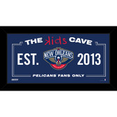 New Orleans Pelicans 6x12 Kids Cave Sign