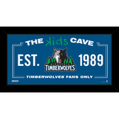 Minnesota Timberwolves 6x12 Kids Cave Sign