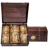 Georgia Tech Yellow Jackets Capitol Decanter Chest Set