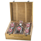 Nebraska Cornhuskers Capitol Decanter Box Set