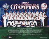 New York Yankees 1999 World Series Champions Team Sit Down 8x10 Photo