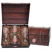 Illinois Fighting Illini Colored Logo Beer Chest Set