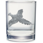 Pheasant Double Old Fashioned Glass Set of 2