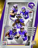 Minnesota Vikings Greg Jennings, Chad Greenway, Harrison Smith, Cordarrelle Patterson, Teddy Bridgewater 20x24 Stretched Canvas