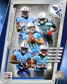Tennessee Titans Nate Washington, Shonn Greene, Jake Locker, Kendall Wright, Bishop Sankey 40x50 Stretched Canvas