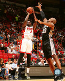 Miami Heat Luol Deng 20x24 Stretched Canvas