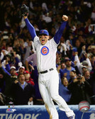 Chicago Cubs Anthony Rizzo celebrates winning Game 4 of the 2015 National League Division Series 16x20 Stretched Canvas