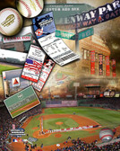 Boston Red Sox Fenway Park Composite 40x50 Stretched Canvas