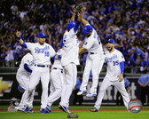 The Kansas City Royals celebrate winning Game 5 of the 2015 American League Division Series 16x20 Stretched Canvas