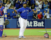 Toronto Blue Jays Edwin Encarnacion Home Run Game 5 of the 2015 American League Division Series 20x24 Stretched Canvas