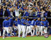 The Toronto Blue Jays celebrate winning Game 5 of the 2015 American League Division Series 20x24 Stretched Canvas