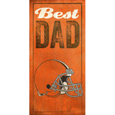 Cleveland Browns Wood Sign - Best Dad - 6x12