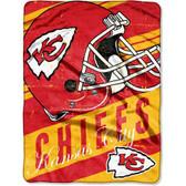 "Kansas City Chiefs 46"" x 60"" Micro Raschel Throw Blanket - Rolled - Deep Slant"
