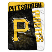 "Pittsburgh Pirates 60""x80"" Royal Plush Raschel Throw Blanket - Strike Design"