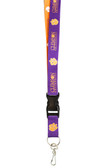 Clemson Tigers Two-Tone Lanyard