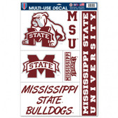 """Mississippi State Bulldogs 11""""x17"""" Ultra Decal Sheet"""
