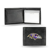 Baltimore Ravens Embroidered Leather Billfold