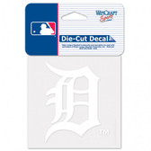 Detroit Tigers 4x4 Decal - White